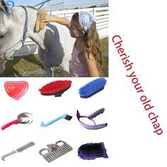 Nueva 9 en 1 Herramienta Cleanning Caballo con juego de limpieza de equipo ecuestre Hípica talabarterías caballo kit de aseo herramientas de Limpieza