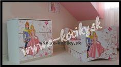 Detská posteľ Princ a princezná 180x90 cm s matracom