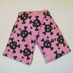 Cherry Pit Heating Pad - Skulls and Hearts - Microwaveable Cherry Pit Heating Pad