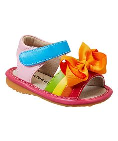 Look what I found on #zulily! Colorsplash Add-a-Bow Squeaker Sandal #zulilyfinds