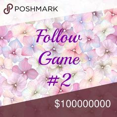 I'm now a Suggested User!! 🎉🙈🎉🙈🎉🙈🎉 Welcome to my second follow game! Thank you to everyone who helped with my first game!!!  Let's play again...  1. Like this post 2. Follow everyone else who liked this post 3. Tag your friends in the comments 4. Share this post  When the price drops, 1. Follow all the new likers  2. Tag some more friends in the comments 3. Share this post again  And as always, please let me know if you have questions! 💕   Starting on 7/4 with 7k followers, goal is…