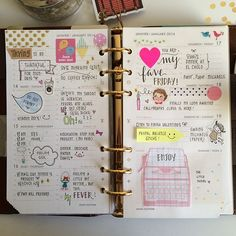 """Jan 13-19. 2014 What a productive and fun week. Hope yours was too! #filofax #agenda #filofaxaddict #stationery #stickers #handwriting #journal"""