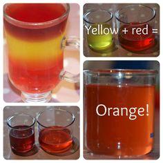 Jello colour mixing, fun with jello, pre school science