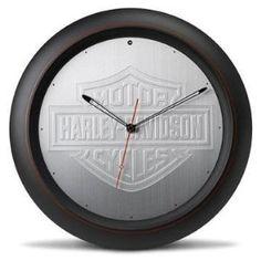"""Amazon.com: Harley Davidson Clock - 13"""" Aluminum Bar/Shield: Home & Kitchen"""
