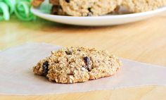 Flourless oatmeal cookies. L and I made these with the addition of flax meal and unsweetened coconut