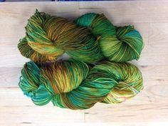 2 ply sock yarn October 2014 Mossy Glen
