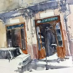 Sketching -watercolor (@reham_m_a) в Instagram: «Al turky one of the oldest stores for sewing tools and craft in Alexandria Alexandria…» #aquarell #art #painting #watercolor #sketch #paint #painting #sketch #drawing #sketching #sketchbook #travelbook #arch_more #archisketcher #sketchaday #sketchwalker #sketchcollector #artbook #artjournal #traveldiary #topcreator #usk #urbansketchers #urbansketch #скетчбук #скетч #скетчинг #pleinair #aquarelle #watercolorsketch #usk #architecture