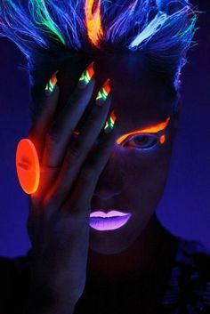 Glow in the dark makeup and nails