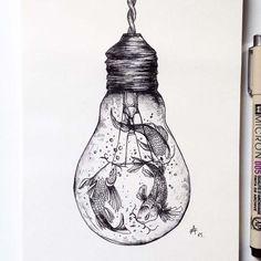 Wonderful Black Pen Illustrations by Alfred Basha
