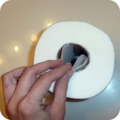 Dryer sheet in a roll of toilet paper will leave a fresh scent every time it is used