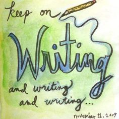 Keep on writing, writing, writing...Jennifer Lee