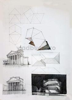 Subiecte – Page 3 – Vlad Bucur Architecture Sketchbook, Interior Architecture, Page 3, Geometry, Sketchbooks, Diagram, Concept, Illustration, Perspective