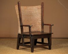Child's Orkney Chair C.1910. - Antiques Atlas Art Nouveau, Oat Straw, Charles Rennie Mackintosh, Arts And Crafts Movement, Antique Shops, Antique Furniture, Woodwork, Armchair, Chairs