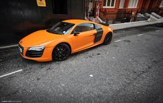 Audi R8 dream. But hate the orange