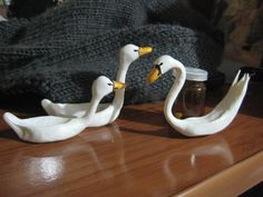 white duck & swan made by me :D