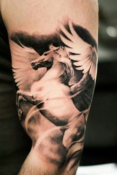 tattoos pegasus hors