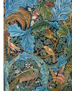 William Morris - Design for a Tapestry.I love William Morris Designs. William Morris Wallpaper, William Morris Art, Morris Wallpapers, Tapestry Design, Textile Design, Textile Art, Tapestry Fabric, Arts And Crafts Movement, Motifs Art Nouveau