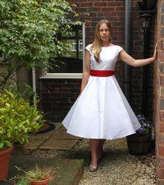Lola-Rose Tea length wedding dress by RIleyandFlynn Vintage