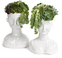 Male & Female Bust Vases