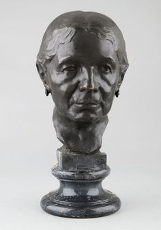 DAVIDSON Jo, portrait sculpture en bronze du 20e siècle