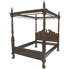 Abelle Four Poster Bed Queen, $3,350, now featured on Fab.