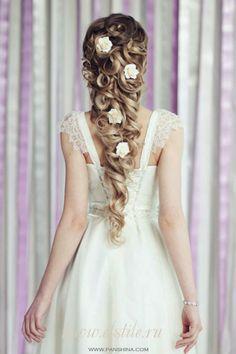 PEINADOS Wedding Hair And Makeup, Bridal Hair, Hair Makeup, Braids For Wedding, Prom Makeup, Hair Wedding, Wedding Bride, Fancy Hairstyles, Bride Hairstyles