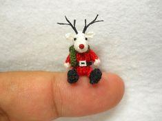 Miniature Reindeer Tiny Amigurumi Crochet Mini Doll by SuAmi