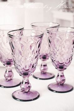Mauve Wine Glass, for outside in the garden or luxury evening dinner Antique Dishes, Vintage Dishes, Antique Glass, Vintage Glassware, Color Mauve, Deco Rose, Lavender Cottage, Purple Glass, Purple Cups