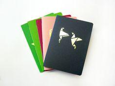 Notizhefte - Golden notebook Origamistyle 3 - ein Designerstück von Emadam bei DaWanda