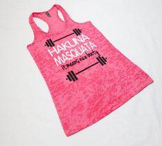 Hakuna Masquata. Hakuna Masquata Tank. Womens by SheSquatsClothing