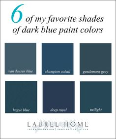 Six favorite shades of dark blue paint colors
