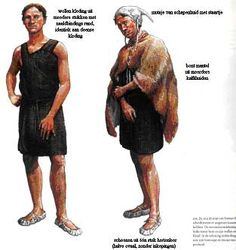 Bronze age men, note sheepskin cap complete with tail!