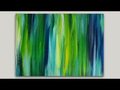 Acrylic Painting Blended Streaks Abstract Painting - YouTube