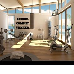 Decide. Commit. Succeed. - Wall Decal -Workout Decal - Gym Decal - Fitness Decal by TipitDesigns on Etsy https://www.etsy.com/listing/221474574/decide-commit-succeed-wall-decal-workout