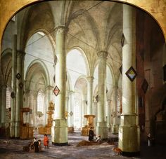 The Interior of the Grote Kerk at Haarlem by Saenredam 1636 National ...