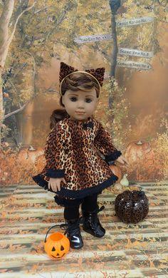 Miss Cheetah  cat costume for American Girl by cupcakecutiepie, $59.00