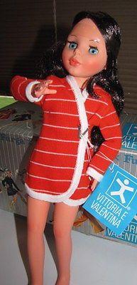 Vintage-Furga-Vittoria-Valentina-poseable-doll-Brunette-Hair-Italy-1969-Mint-Box