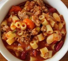 Ingredients: 1 pound ground beef 1 small onion, chopped (equivalent to 1 cup) 1 large carrot, chopped (equivalent to 1 cup) 3 stalks celery, chopped (equivalent to 1 cup) 2 cloves garlic, minced 1 can (28 ounces) crushed tomatoes 2 cans (8 ounces each) tomato sauce 1 can (15 ounces) beef broth 1 can (15 …