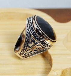 OTTOMAN COLLECTION turc Ruby Sterling Silver 925K Bronz Ring Taille 7,8,9