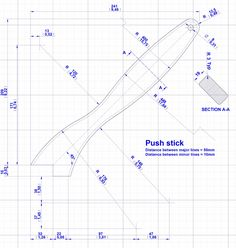 Push stick and push block plans | Jig, clamp and fixture plans