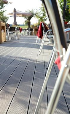 The durable UPM ProFi Deck is suitable for different kinds of outdoor use and is an excellent choice for any restaurants' outdoor service areas. See why Restaurant L'osteria in Ausburg, Germany chose UPM ProFi Deck. Restaurants, Hotels, Germany, Deck, Range, Outdoor, Products, Outdoors, Cookers