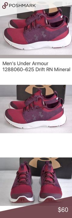 Men's SZ 10 New in box 📦 under armour Under Armour men's Drift RN Mineral running shoes color maroon size 10 New in box . Style 1288060–625 Under Armour Shoes Athletic Shoes