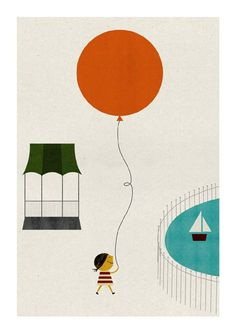"Posters ""Balls"" by Blanca Gomez - lovely prints for a kids room"