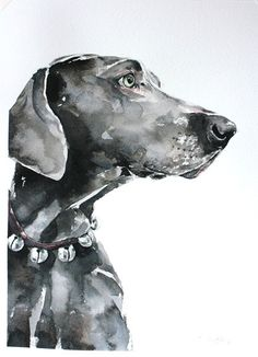 custom dog portrait, original watercolor painting, dog or cat painting, handmade gift/present