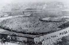 WORLD SERIES, View of the Huntington Avenue baseball grounds in Boston, Massachusetts, during the opening game of the first World Series, 1 October between the Boston Americans (later Red Sox) and the Pittsburgh Pirates. 1903 World Series, First World Series, Baseball Park, Baseball Season, Baseball Teams, Baseball Stuff, Baseball Photos, Baseball Mom, Baseball Field