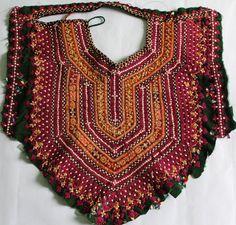 Vintage Handmade Banjara Neck Yoke with by coloursofspirit on Etsy