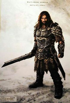 """Concept art for Kili in armor from """"The Hobbit: The Battle of the Five Armies"""" (2014)."""