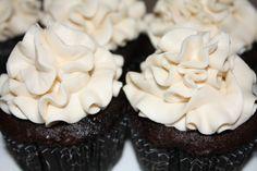 Chocolate Kahlua cupcakes with Bailey's irish buttercream icing