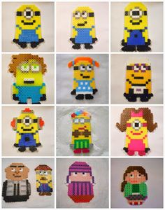 Running away? I'll help you pack.: Despicable Me Birthday ... Perler Beads