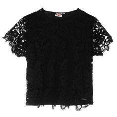 Lee Cooper | Lee Cooper Lace T Shirt | Ladies T Shirts